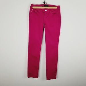 WHBM hot pink Contour 2R slim ankle pants